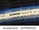 crime word in a dictionary....   Shutterstock . vector #1079020310