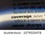 coverage word in a dictionary.... | Shutterstock . vector #1079020478