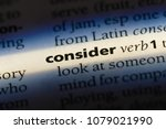 Small photo of consider word in a dictionary. consider concept