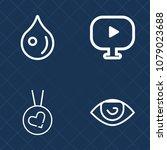 premium set of outline vector... | Shutterstock .eps vector #1079023688