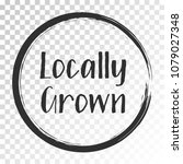 black locally grown food icon ... | Shutterstock .eps vector #1079027348
