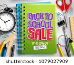 back to school sale vector... | Shutterstock .eps vector #1079027909