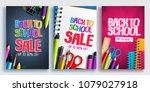back to school sale vector... | Shutterstock .eps vector #1079027918