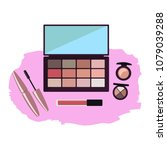 makeup products for women... | Shutterstock .eps vector #1079039288