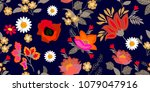 colorful flourish border with... | Shutterstock .eps vector #1079047916