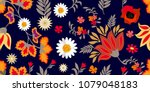 colorful flourish border with... | Shutterstock .eps vector #1079048183