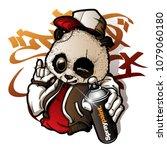 graffiti character cute panda... | Shutterstock .eps vector #1079060180