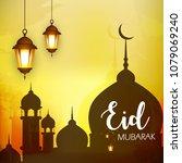 eid mubarak design  vector... | Shutterstock .eps vector #1079069240
