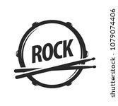 vector logo of rock school.... | Shutterstock .eps vector #1079074406
