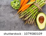 banches of fresh green... | Shutterstock . vector #1079080109