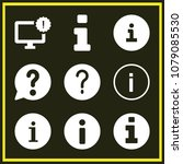 set of 9 info filled icons such ... | Shutterstock .eps vector #1079085530
