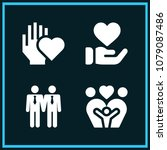 set of 4 love filled icons such ... | Shutterstock .eps vector #1079087486