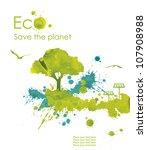 illustration environmentally... | Shutterstock . vector #107908988