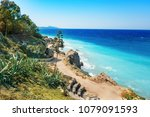 aegean coastline of city of... | Shutterstock . vector #1079091593