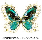 jewelry butterly with colorful...   Shutterstock .eps vector #1079093573