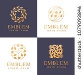 floral logo. flower icon.... | Shutterstock .eps vector #1079093846