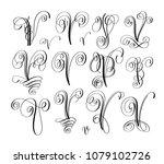 calligraphy lettering script... | Shutterstock . vector #1079102726