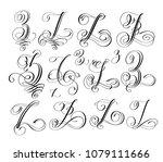 calligraphy lettering script... | Shutterstock . vector #1079111666