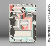 maze texture vintage and place... | Shutterstock .eps vector #1079118080