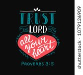hand lettering trust in the... | Shutterstock .eps vector #1079126909