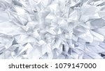 White Crystal Background With...
