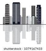 creative city sky line design... | Shutterstock .eps vector #1079167433