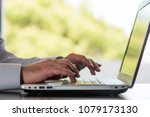 man working in office and...   Shutterstock . vector #1079173130