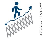 decisive and active businessman ...   Shutterstock .eps vector #1079175749