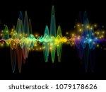 wave function series. artistic... | Shutterstock . vector #1079178626