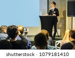 image of a conference | Shutterstock . vector #1079181410