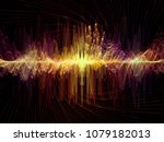 wave function series. artistic... | Shutterstock . vector #1079182013