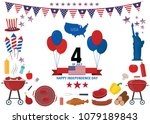 fourth of july icons design... | Shutterstock .eps vector #1079189843