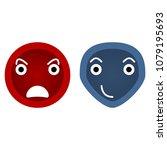 evil smileys face icons  flat... | Shutterstock .eps vector #1079195693