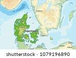 denmark physical map   Shutterstock .eps vector #1079196890