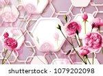 3d floral abstract wallpaper... | Shutterstock . vector #1079202098