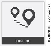 location icon isolated on white ...