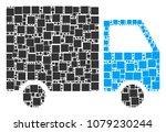 shipment van collage icon of... | Shutterstock .eps vector #1079230244