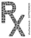 rx medical symbol mosaic icon... | Shutterstock .eps vector #1079230820