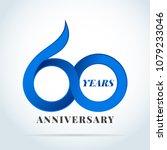 60 years anniversary... | Shutterstock .eps vector #1079233046