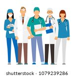 doctors and assistant in a... | Shutterstock .eps vector #1079239286