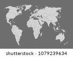 world map paper. political map... | Shutterstock .eps vector #1079239634