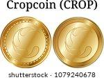 set of physical golden coin... | Shutterstock .eps vector #1079240678