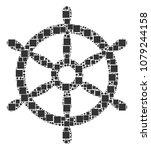 boat steering wheel composition ... | Shutterstock .eps vector #1079244158