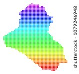 colored rainbow dotted iraq map.... | Shutterstock .eps vector #1079246948