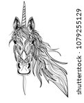 the head of the unicorn. a... | Shutterstock .eps vector #1079255129