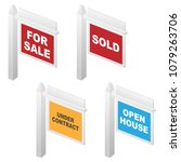 real estate for sale  sold ... | Shutterstock .eps vector #1079263706