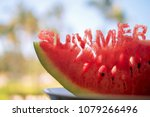 A Slice Of A Water Melon With...