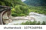 white pass and yukon railway ... | Shutterstock . vector #1079268986