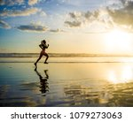 silhouette of young asian sport ...   Shutterstock . vector #1079273063