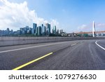 empty asphalt road with... | Shutterstock . vector #1079276630